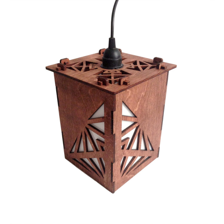 Laser Cut - Pendant Lamp - Geo - Small